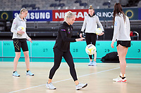 22.09.2018 Silver Ferns Laura Langman in action during Silver Ferns training in Melbourne. Mandatory Photo Credit ©Michael Bradley.