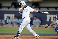 5 May 2012:  FIU's Mike Martinez (40) bats as the FIU Golden Panthers defeated the Middle Tennessee State University Blue Raiders, 12-6, at University Park Stadium in Miami, Florida.  With his first inning single, Martinez became FIU's all-time hit leader.