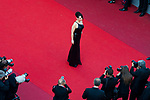 70eme Festival International du Film de Cannes. Montee de la ceremonie de cloture, vues du toit du Palais . 70th International Cannes Film Festival. Vew from rof top of closing red carpet<br /> <br /> Binoche, Juliette