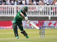 Fakhar Zaman (Pakistan) drives away from his body and is caught at point during Pakistan vs Bangladesh, ICC World Cup Cricket at Lord's Cricket Ground on 5th July 2019