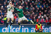 17th March 2018, Twickenham, London, England; NatWest Six Nations rugby, England versus Ireland; Keith Earls of Ireland tackles Elliot Daly of England
