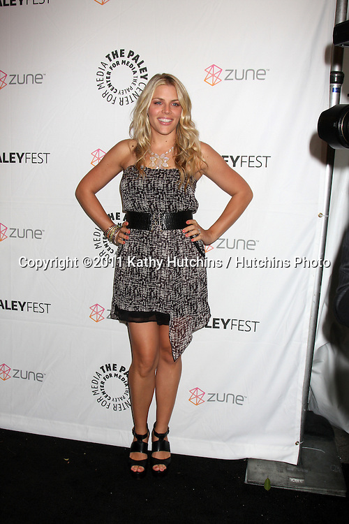 """LOS ANGELES - MAR 12:  Busy Philipps arriving at the """"Freaks & Geeks, Undeclared"""" PaleyFest 2011 at Saban Theatre on March 12, 2011 in Beverly Hills, CA"""