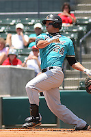 Coastal Carolina University Chanticleers outfielder Daniel Bowman #26 at bat during an NCAA Regional elimination game vs. the Stony Brook University Seawolves at BB&T Coastal Field in Myrtle Beach, South Carolina on June 6, 2010. Coastal Carolina defeated Stony Brook by the score of 25-7.  Photo By Robert Gurganus/Four Seam Images