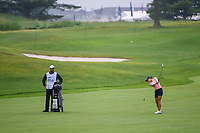 Azahara Munoz (ESP) hits her third shot on 1 during round 4 of the KPMG Women's PGA Championship, Hazeltine National, Chaska, Minnesota, USA. 6/23/2019.<br /> Picture: Golffile | Ken Murray<br /> <br /> <br /> All photo usage must carry mandatory copyright credit (© Golffile | Ken Murray)