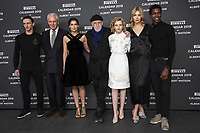 "Sergei Polunin, Marco Tronchetti Provera (Pirelli's President), Laetitia Casta, Albert Watson, Julia Garner, Astrid eika, Calvin Royal II attend the official presentation of the Presentation of the Pirelli Calendar 2018 ""The cal"" held at the Pirelli headquarter. Milan (Italy) on december 5, 2018. Credit: Action Press/MediaPunch ***FOR USA ONLY***"