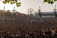 LISBOA, PORTUGAL, 24.06.2018- RIR-LISBOA - Vista geral do palco mundo no segundo dia do Rock in Rio 2018, no Parque da Bela Vista, em Lisboa, Portugal, nesse domingo 24. (Foto: Bruno de Carvalho / Brazil Photo Press)