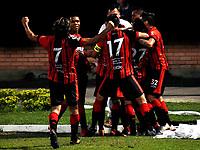 CÚCUTA - COLOMBIA, 17-02-2019: Los jugadores de Cúcuta Deportivo, celebran el gol anotado al Atlético Bucaramanga, durante partido entre Cúcuta Deportivo y Atlético Bucaramanga, de la fecha 5 por la Liga Aguila I-2019, jugado en el estadio General Santander de la ciudad de Cúcuta. / The players of Cucuta Deportivo, celebrate a scored goal to Atlético Bucaramanga, during a match between Cucuta Deportivo and Atletico Bucaramanga, of the 5th date for the Liga Aguila I 2019 at the General Santander Stadium in Cucuta city Photo: VizzorImage / Manuel Hernández / Cont.