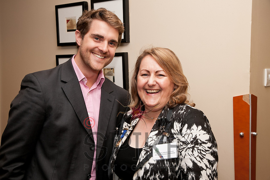 Jonathan English of Skeleton Productions and Deborah Labbate of Advantage Business Partnerships