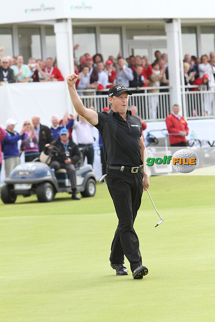 Jamie Donaldson (WAL) after winning on Day 4 of the 2012 Irish Open at Royal Portrush Golf Club, Portrush, Co.Antrim, 1/7/12...(Photo Jenny Matthews/www.golffile.ie)