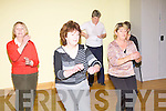 ..Phil O'Connell Line Dancing teacher left, going through the steps with Joan Keating, Mairead Doyle and Margaret Kirby at  Listowel community centre  on sunday were .   Copyright Kerry's Eye 2008