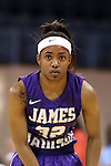 02 January 2014: JMU's Angela Mickens. The University of North Carolina Tar Heels played the James Madison University Dukes in an NCAA Division I women's basketball game at Carmichael Arena in Chapel Hill, North Carolina.