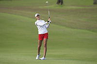 Nelly Korda (USA) in action on the 1st during Round 3 of the HSBC Womens Champions 2018 at Sentosa Golf Club on the Saturday 3rd March 2018.<br /> Picture:  Thos Caffrey / www.golffile.ie<br /> <br /> All photo usage must carry mandatory copyright credit (&copy; Golffile | Thos Caffrey)