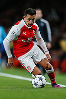 Alexis Sanchez of Arsenal during the UEFA Champions League match between Arsenal and PFC Ludogorets Razgrad at the Emirates Stadium, London, England on 19 October 2016. Photo by David Horn / PRiME Media Images.