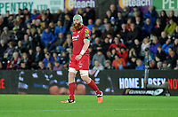 Scarlets' Jake Ball <br /> <br /> Photographer Ashley Crowden/CameraSport<br /> <br /> Guinness Pro14 Round 6 - Ospreys v Scarlets - Saturday 7th October 2017 - Liberty Stadium - Swansea<br /> <br /> World Copyright &copy; 2017 CameraSport. All rights reserved. 43 Linden Ave. Countesthorpe. Leicester. England. LE8 5PG - Tel: +44 (0) 116 277 4147 - admin@camerasport.com - www.camerasport.com