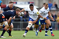Anthony Perenise of Bath Rugby goes on the attack. Pre-season friendly match, between Edinburgh Rugby and Bath Rugby on August 17, 2018 at Meggetland Sports Complex in Edinburgh, Scotland. Photo by: Patrick Khachfe / Onside Images