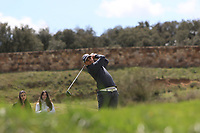 Christiaan Bezuidenhout (RSA) on the 11th tee during Round 2 of the Open de Espana 2018 at Centro Nacional de Golf on Friday 13th April 2018.<br /> Picture:  Thos Caffrey / www.golffile.ie<br /> <br /> All photo usage must carry mandatory copyright credit (&copy; Golffile | Thos Caffrey)