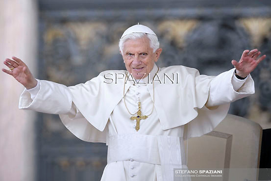 Pope Benedict XVI during his weekly general audience in St. Peter square at the Vatican, Wednesday. 16, May 2012