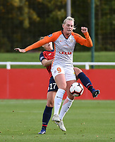 20181027 - CAMPHIN-EN-PEVELE , FRANCE : Montpellier's Emma Stina Blackstenius pictured during the 8 th competition game between the women teams of Lille OSC and Montpellier Herault Sporting Club in the 2018-2019 season of the first Division - Ligue 1 at Domaine de Luchin , Saturday 27th Octobre 2018 ,  PHOTO Dirk Vuylsteke | Sportpix.Be