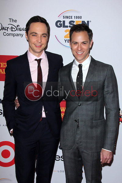 Jim Parsons, Todd Spiewak<br /> at the 2015 GLSEN Respect Awards, Beverly Wilshire, Beverly Hills, CA 10-23-15<br /> David Edwards/DailyCeleb.Com 818-249-4998