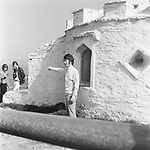 Beatles 1967 John Lennon films Magical Mystery Tour at Huer's Hut in Newquay Cornwall<br /> &copy; Chris Walter