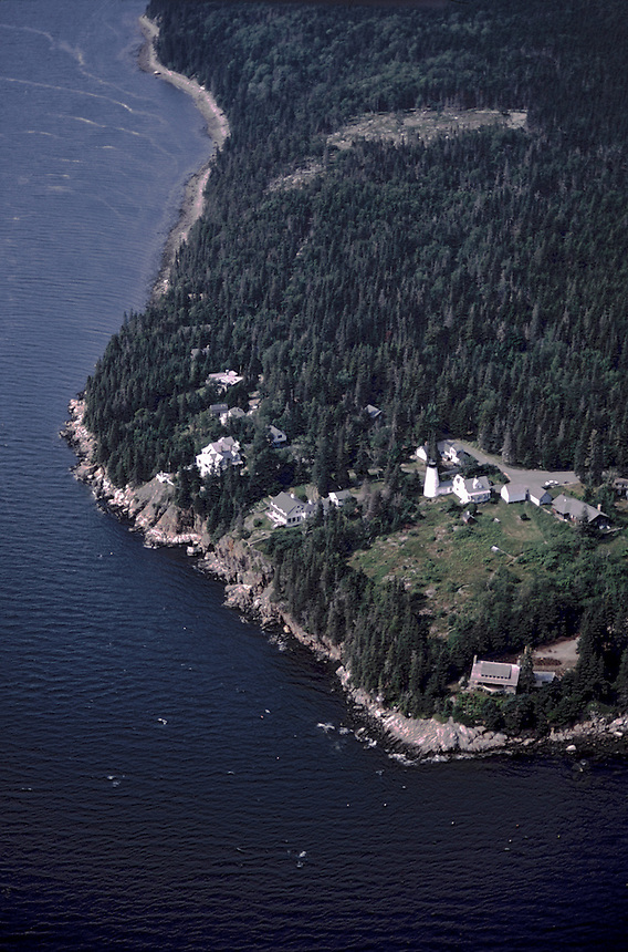 Dyce's Head and Witherle Woods (Aerial), Castine, Maine, US