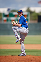GCL Mets starting pitcher Max Kuhns (54) delivers a pitch during a game against the GCL Cardinals on August 6, 2018 at Roger Dean Chevrolet Stadium in Jupiter, Florida.  GCL Cardinals defeated GCL Mets 6-3.  (Mike Janes/Four Seam Images)