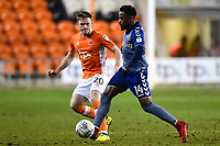 Blackpool's Oliver Turton competes with Charlton Athletic's Tariqe Fosu<br /> <br /> Photographer Richard Martin-Roberts/CameraSport<br /> <br /> The EFL Sky Bet League One - Blackpool v Charlton Athletic - Tuesday 13th March 2018 - Bloomfield Road - Blackpool<br /> <br /> World Copyright &copy; 2018 CameraSport. All rights reserved. 43 Linden Ave. Countesthorpe. Leicester. England. LE8 5PG - Tel: +44 (0) 116 277 4147 - admin@camerasport.com - www.camerasport.com