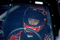 Sept. 19, 2008; Dover, DE, USA; Nascar Sprint Cup Series driver Carl Edwards during practice for the Camping World RV 400 at Dover International Speedway. Mandatory Credit: Mark J. Rebilas-