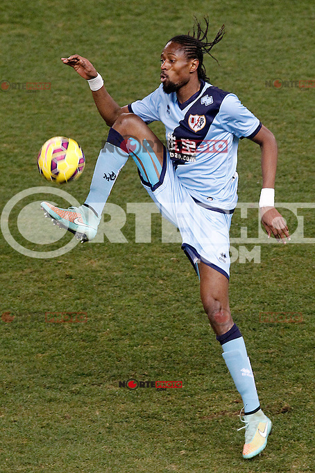Rayo Vallecano's Abdoulaye Ba during La Liga match.January 24,2015. (ALTERPHOTOS/Acero) /NortePhoto<br />