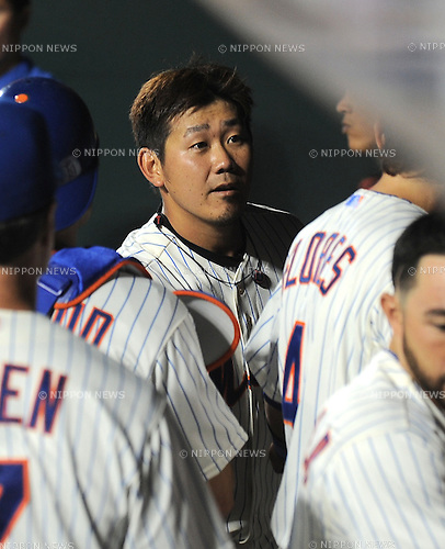 Daisuke Matsuzaka (Mets),<br /> AUGUST 23, 2013 - MLB :<br /> Daisuke Matsuzaka of the New York Mets in the dugout during the Major League Baseball game against the Detroit Tigers at Citi Field in Flushing, New York, United States. (Photo by AFLO)