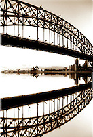 Abstract, Sydney Harbor Bridge and Opera House