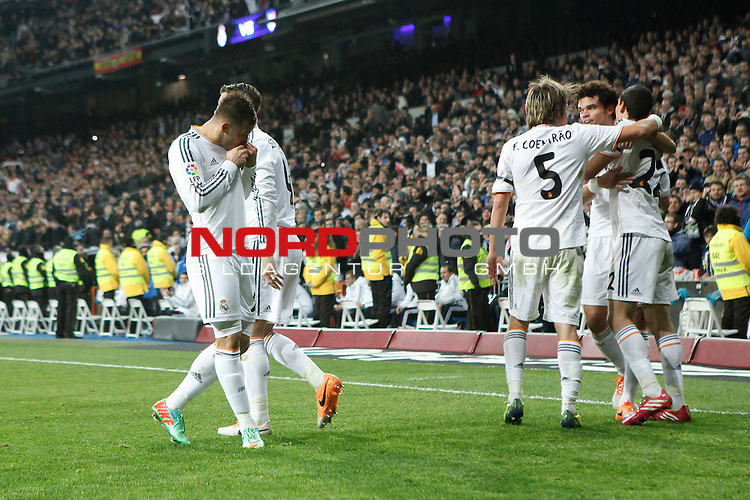 Real Madrid¬¥s Jesse celebrates a goal during King¬¥s Cup (Copa del Rey) semifinal match against Atletico de Madrid in Santiago Bernabeu stadium in Madrid, Spain. February 05, 2014. Foto © nph / Victor Blanco)