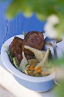 Europe/France/Languedoc-Roussillon/30/Gard / Saint-Quentin-la-Poterie:  Agneau à la  barigoule d'artichauts , recette d' Anthony  Marandon du  restaurant Le délice des  Anges