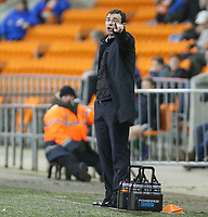 Blackpool manager Gary Bowyer shouts instructions to his team from the technical area<br /> <br /> Photographer Alex Dodd/CameraSport<br /> <br /> The EFL Sky Bet League Two - Blackpool v Stevenage - Tuesday 14th March 2017 - Bloomfield Road - Blackpool<br /> <br /> World Copyright &copy; 2017 CameraSport. All rights reserved. 43 Linden Ave. Countesthorpe. Leicester. England. LE8 5PG - Tel: +44 (0) 116 277 4147 - admin@camerasport.com - www.camerasport.com