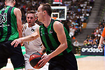 Liga ENDESA 2019/2020. Game: 01.<br /> Club Joventut Badalona vs Real Madrid: 69-88.<br /> Fabien Causeur vs Klemen Prepelic.