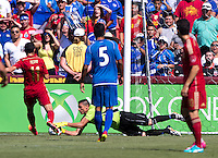 Landover, MD - June 7, 2014: Spain defeated El Salvador 2-0 during an international friendly at PPL Park.