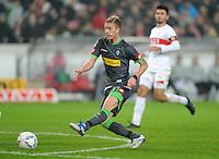 FUSSBALL   1. BUNDESLIGA  SAISON 2011/2012   19. Spieltag   29.01.2012 VfB Stuttgart - Borussia Moenchengladbach    Marco Reus (Mitte, Borussia Moenchengladbach) etrzielt das Tor zum 0-2