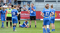 20180526 - Eupen , BELGIUM : Genk's players look dejected after the final of Belgian cup 2018 , a soccer women game between KRC Genk Ladies and Standard Femina de Liege  , in the  Kehrweg stadion in Eupen , saturday 26 th May 2018 . PHOTO SPORTPIX.BE | DAVID CATRY