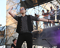 FORT LAUDERDALE BEACH, FL - DECEMBER 02: A/J Jackson of Saint Motel performs during The Riptide Music Festival on December 2, 2017 in Fort Lauderdale Beach Florida. Credit: mpi04/MediaPunch