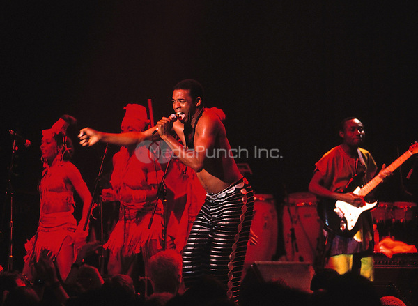 Femi Kuti<br /> California<br /> 2001<br /> <br /> &copy; Anthony Pidgeon / MediaPunch.