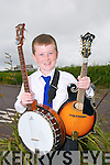 Double Winner : Darragh O'Mahony, Ballydonoghue who came 1st in  the U/12 mandolin & Banjo competitions at the Kerry Fleadh in Ballybunion on Saturday last.