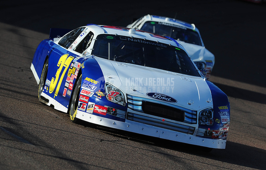 Nov. 14, 2009; Avondale, AZ, USA; NASCAR Nationwide Series driver Kevin Hamlin during the Able Body Labor 200 at Phoenix International Raceway. Mandatory Credit: Mark J. Rebilas-
