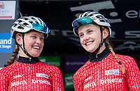 Picture by Allan McKenzie/SWpix.com - 17/05/2018 - Cycling - OVO Energy Tour Series Womens Race - Round 2:Aberdeen - Jenny Holl with Megan Barker.