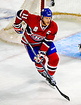 22 November 2008: Montreal Canadiens' center and Team Captain Saku Koivu from Finland in action during the first period against the Boston Bruins at the Bell Centre in Montreal, Quebec, Canada.  After a 2-2 regulation tie and a non-scoring 5-minute overtime period, the Boston Bruins scored the lone shootout goal thus defeating the Canadiens 3-2. The Canadiens, celebrating their 100th season, honored former Montreal goaltender Patrick Roy, and retired his jersey (Number 33) during pre-game ceremonies. ***** Editorial Use Only *****..Mandatory Photo Credit: Ed Wolfstein Photo *** Editorial Sales through Icon Sports Media *** www.iconsportsmedia.com