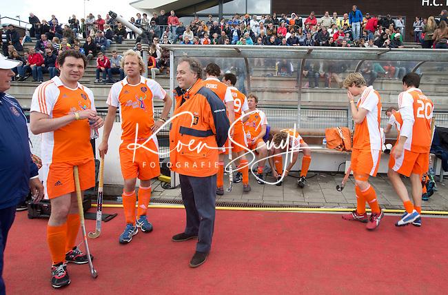 ROTTERDAM - Aad Ouborg, Jaap-Derk Buma en Floris Evers.  afscheidswedstrijd TEUN DE NOOIJER. FOTO KOEN SUYK