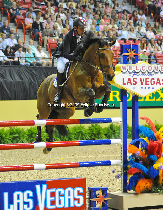 18 April 2009: Geir Gulliksen (NOR) and Sundal Colliers Cattani at the Rolex FEI Las Vegas Grand Prix.