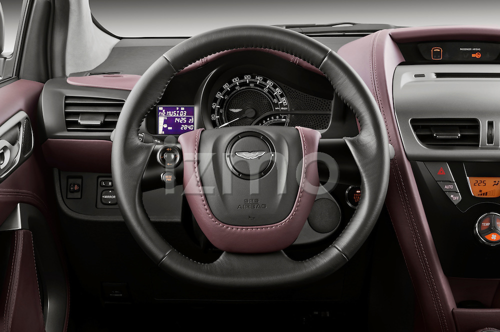 Steering wheel view of a 2011 - 2013 Aston Martin Micro Car.