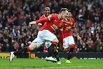 Wayne Rooney of Manchester United celebrates his opening goal - Manchester United vs. Sunderland - Barclay's Premier League - Old Trafford - Manchester - 28/02/2015 Pic Philip Oldham/Sportimage