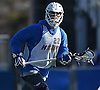 Josh Byrne #22 of Hofstra University gets ready to catch a pass behind the net during a scrimmage against Hobart College at Hofstra University on Saturday, Feb. 4, 2017.