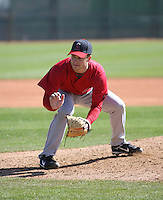 Ryan Brasier - Los Angeles Angels - 2009 spring training.Photo by:  Bill Mitchell/Four Seam Images